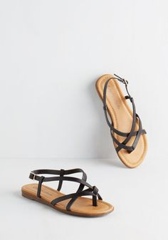 Skip Hop Hooray Sandal in Black. Celebrate sunny skies and balmy breeze in these charming black sandals. #black #modcloth