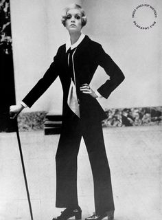 Twiggy and the Dandy Look: Jacket by Mary Quant's Ginger Group ~ Photographed by Helmut Newton, VOGUE September 15 1967