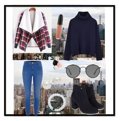 """""""NYC fashion 👗"""" by fashion0203 ❤ liked on Polyvore featuring BLVD Supply, River Island, Ille De Cocos, Monsoon, Lokai, AK Anne Klein, Ray-Ban, MAC Cosmetics and GUESS"""