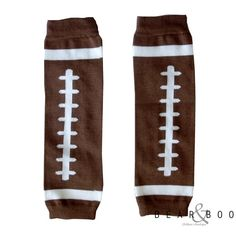 Football legwarmers for babes and toddlers at Bear & Boo. $4.98 & free shipping on orders over $20!