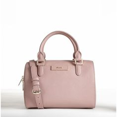 Saffiano Leather Small Satchel ($265) ❤ liked on Polyvore