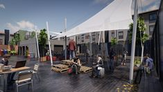 Street View, Open Spaces, Architectural Firm, Town Hall, Norte