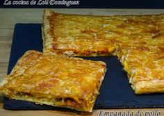 The cuisine of Loli Domínguez: chicken pie with puff pastry, super easy recipe Quiches, Pollo Chicken, No Cook Appetizers, Tacos And Burritos, Portuguese Recipes, Tasty Bites, Food Decoration, Sweet And Salty, Mexican Food Recipes