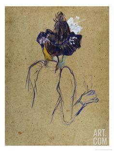 Jane Avril, Back-View, circa 1891-1892 Giclee Print by Henri de Toulouse-Lautrec at Art.com