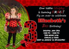 Ladybug Birthday Party Invitation  Printable by FunPartyInvitation, $8.99