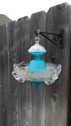 Hey, I found this really awesome Etsy listing at https://www.etsy.com/listing/180456064/blue-and-clear-frosted-glass-hanging