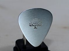 Sterling silver big tree guitar pick by NiciLaskin on Etsy