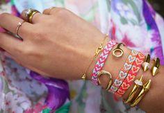 Bracelet d'amitié 2 couleurs (facile!)