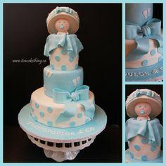 Baby Boy Shower Cake - by itsacakething @ CakesDecor.com - cake decorating website