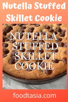 Discover recipes, home ideas, style inspiration and other ideas to try. Chocolate Chip Cookie Pizza, Buttery Chocolate Chip Cookies, Nutella Cookies, Giant Cookie Recipes, Cookie Dough Recipes, Baking Recipes, Easy Desserts, Delicious Desserts, Dessert Recipes
