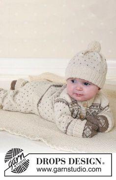 Winter Snuggles / DROPS Baby 13-5 - Jacket, trousers, hat, mittens, socks and blanket in Alpaca