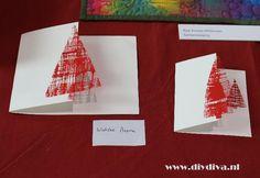 Christmas Arts And Crafts, Christmas Tree Design, Handmade Christmas, Christmas Crafts, Chrismas Cards, Christmas Tree Cards, Cool Cards, Diy Cards, Diy Weihnachten