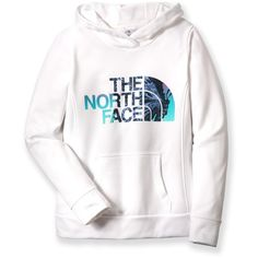 The North Face Fave Butterfly Pullover Hoodie ($27) ❤ liked on Polyvore featuring tops, hoodies, jackets, 11. jackets/hoodies/coats., butterfly top, pullover tops, pullover hoodie, white top and sweater pullover