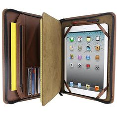 Brown Executive PadFolio Case For iPad 2nd, 3rd, & 4th