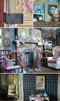 The Bloomsbury Group and the Omega School have always been a great inspiration for EDIT. Charleston, Monk's House and Sissinghurst Castle are places we never tire of visiting these.