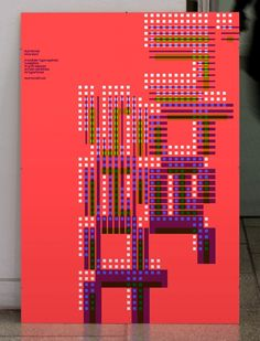 MuirMcNeil Intersect poster: Silk-screened neon, Naturalis Absolute Smooth…