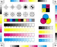 Pantone vs CMYK vs RGB -- how can I get the screen to match the printer? Interaktives Design, Print Design, Graphic Design, Design Layouts, Impression Textile, Screen Printing Process, Printing Press, Magenta, Crazy Colour