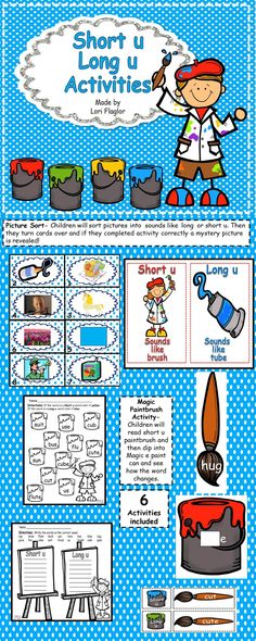 6 Activities included. Perfect for Word Work. So cute!