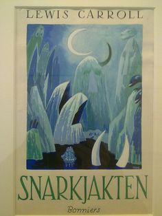 Tove Jansson's illustrations for the finnish edition of The Hunting of the Snark. In an exhibition of her work at the Centre Belge de la Bande Dessinée. Graphic Design Illustration, Illustration Art, Tove Jansson, Beautiful Book Covers, Fairytale Art, You Draw, Conte, Illustrations, Book Art