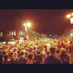 This is 10th and Mass in Lawrence right now. Organized chaos. Amazing! #kubball