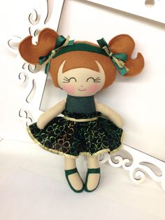 Irish Cloth Doll Irish Dancing Doll Irish Dance by SewManyPretties, $44.00
