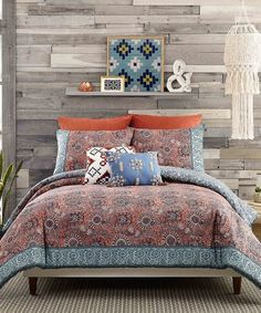 Look what I found on Clay Antara Cotton Comforter Set Blue Comforter Sets, Twin Xl Comforter, Bedding Sets, Jessica Simpson Collection, Baby Room Lighting, Ottoman Sofa, Indigo Colour, Antara, Bed Styling