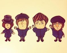 Fan Art Friday on Twitter by Ellie B.Lewis ~  The Beatles  2014 ...This is so cute!