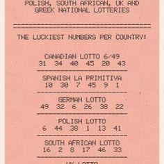 Popular Winning Lotto Numbers