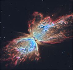 The Butterfly Nebula as seen from Hubble : space