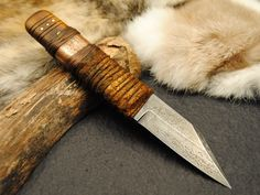 Image result for copper wrap knife handle