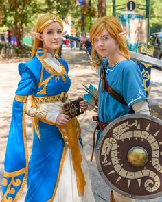 Breath of the Wild cosplays DragonCon Link Cosplay, Best Cosplay, Group Cosplay, Cool Costumes, Cosplay Costumes, Cosplay Ideas, Costume Ideas, Halloween Costumes, Couples Cosplay