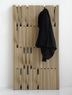 I just fell head over heels in love with a coat rack. The Piano Hanger is making me swoon. It was designed by Patrick Seha for the Belgian company Feld. What I love most about the Piano Hanger is t… Coat Hanger, Coat Hooks, Peg Hooks, Hanger Rack, Wall Hanger, Wall Hooks, Home Furniture, Furniture Design, Wall Mounted Coat Rack