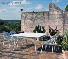 Table RADICE QUADRA, Aluminium Indoor/Outdoor, 140x140 Cm, FAST Spa