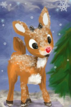 Rudolph the red nose reindeer...