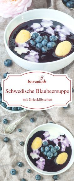 Swedish blueberry soup - a recipe to fall in love with - - New Dessert Recipe, Dessert Recipes, Swedish Recipes, Sweet Recipes, Amazing Food Photography, Low Carb Sweets, Healthy Peanut Butter, Tasty, Yummy Food