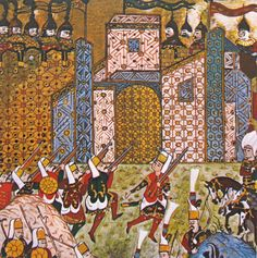 Isle of Rhodes captured by Ottoman Empire in 1522, 16th century Ottoman manuscript