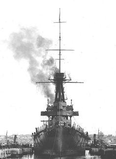 WW1 RAN, HMAS Australia (I) Navy Base, Garden Island, Sydney | by Stuart Curry Navy Base, Royal Australian Navy, Naval History, Navy Ships, Battleship, World History, Armies, Island, Warfare