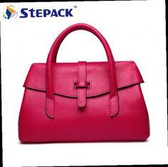 0d491cfc34ef ... China genuine leather designer handbags Suppliers  Women Genuine  Leather Handbags Small Messenger Bag Elegant Design Beige-white Black Hot  pink orange