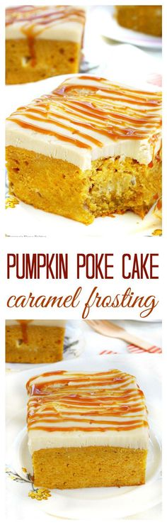 Just as easy as a making it from a cake mix, this made-from-scratch pumpkin poke cake is soaked in condensed milk and topped with homemade caramel frosting!