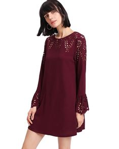 online shopping for Milumia Women's Solid Long Sleeve Hollow Casual Swing Dress from top store. See new offer for Milumia Women's Solid Long Sleeve Hollow Casual Swing Dress Women's Fashion Dresses, Casual Dresses, Short Dresses, 50 Fashion, Dress Long, Fashion Ideas, Plus Size Cocktail Dresses, Plus Size Dresses, Maroon Homecoming Dress