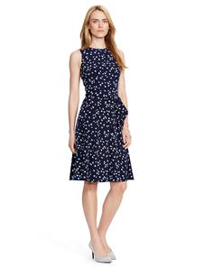 00afa2adce Floral Fit-and-Flare Dress