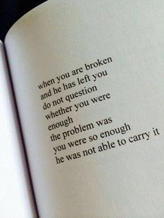 When you are broken.. via (http://ift.tt/2koShiv)