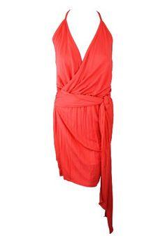 Haute Hippie womens wrap cross v drape tie mini « Dress Adds Everyday