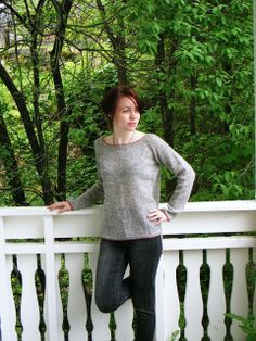 bottom up raglan sleeves sweater