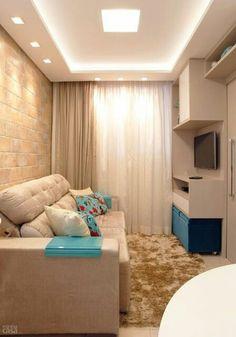 Ceiling Design Living Room, False Ceiling Design, Living Room Designs, Small Apartment Living, Small Space Living, My Home Design, House Design, Living Roon, Home Staging