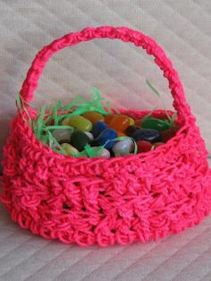 Free Easy to Crochet Basket Patterns   For Women - Part 3