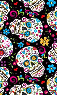 Wallpaper whatsapp skull phone wallpapers 43 Ideas for 2019 Sugar Skull Wallpaper, Sugar Skull Artwork, Gothic Wallpaper, Love Wallpaper, Sugar Skulls, Mermaid Wallpaper Backgrounds, Backgrounds Girly, Butterfly Wallpaper, Day Of The Dead Artwork