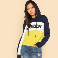 0aba0e902 To find out about the Cut And Sew Printed Hoodie at SHEIN, part of our  latest Sweatshirts ready to shop online today! fashion SHOP