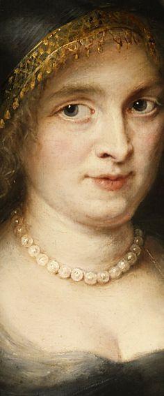 Peter Paul Rubens, Portrait of a Woman Probably Susanna Lunden, detail