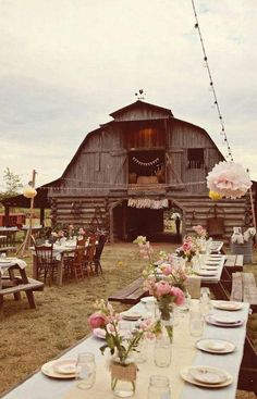 Family reunion or party in the barn